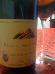 Black Mountain Fat Cat Cabernet Souvignon