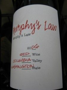 Murphy's Law - Red Blend